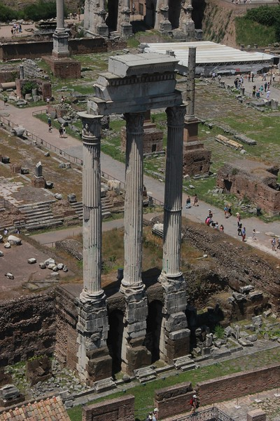 Remains of the Temple of Castor and Pollux.