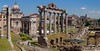 Classic view of the Roman Forum from Capitoline Hill.