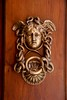 Door knocker on the Italian Ministry of Defense building, Rome.