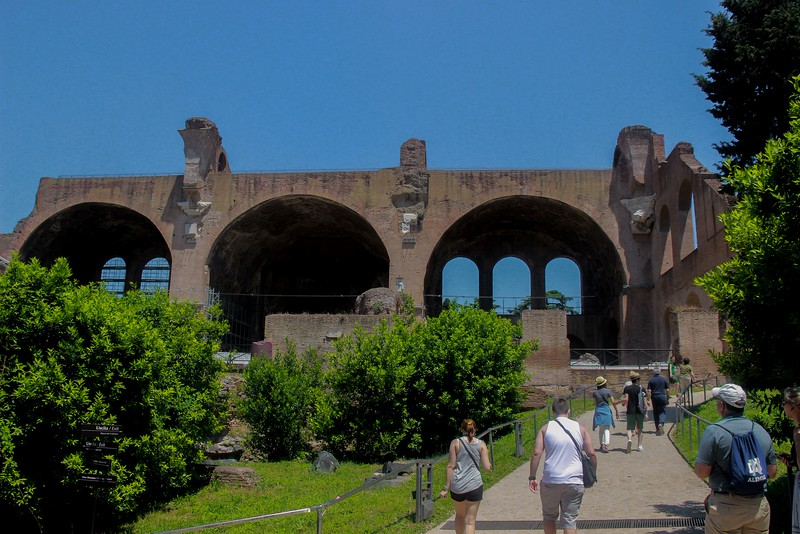Completed in 312 A.D. during Constantine's reign, the Basilica of Maxentius is believed to be the model for the classic Romanesque churches that followed.