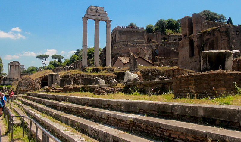 Steps of the Basilica Lulia, a general assembly building for large gatherings. Little remains today.