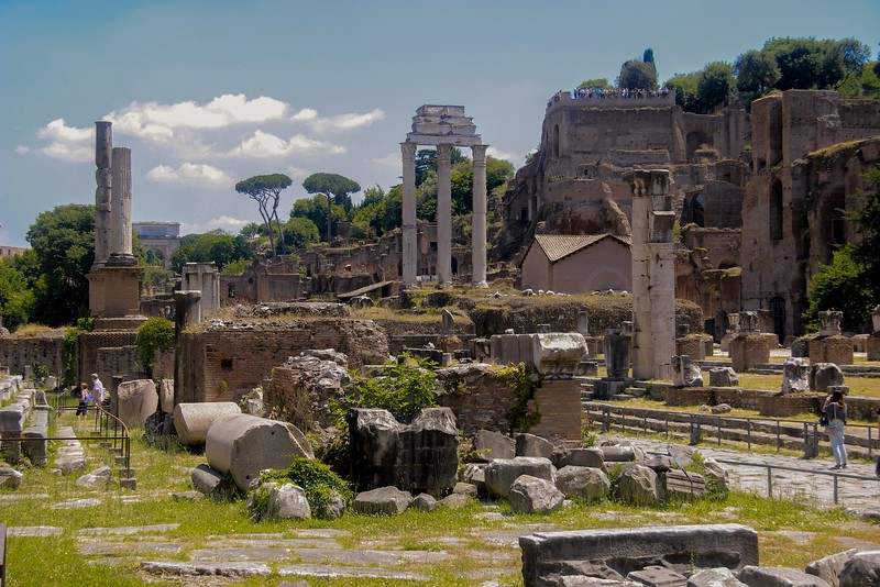 Much of the Forum was below ground level and had to be excavated.