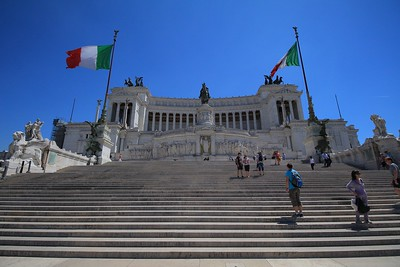 Steps of the Victor Emmanuel Monument.