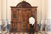 Rome - Archbasilica of St. John Lateran, interior scene: waiting for confession