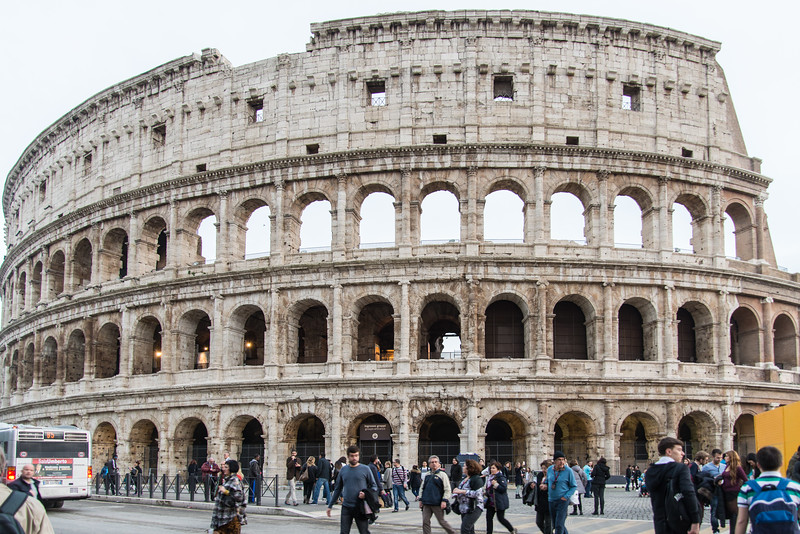 Rome - the Colosseum, street level view