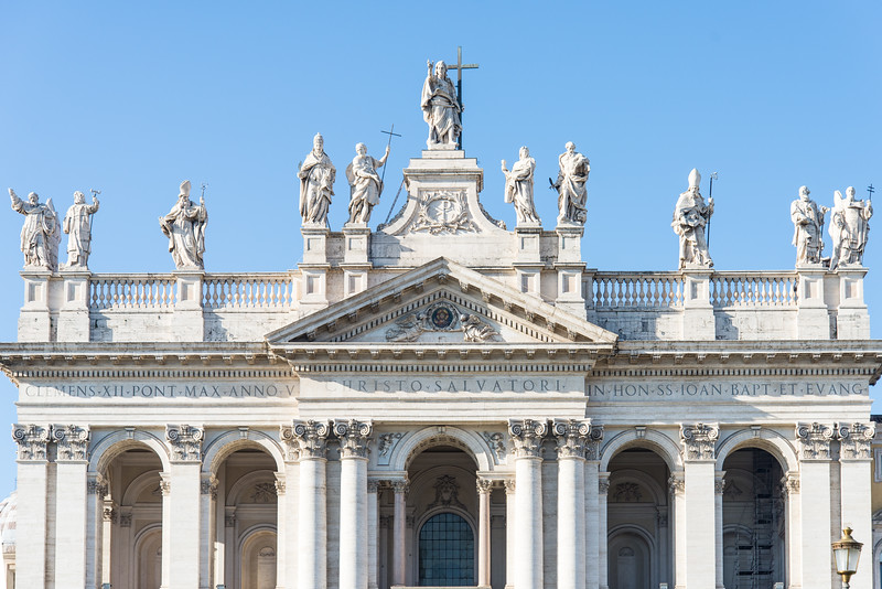 Rome - Archbasilica of St. John Lateran, front entrance