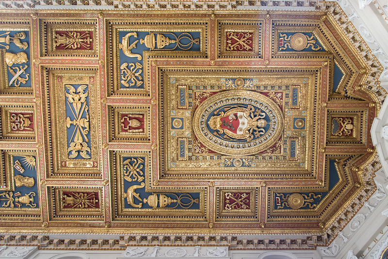 Rome - Archbasilica of St. John Lateran, portion of ceiling