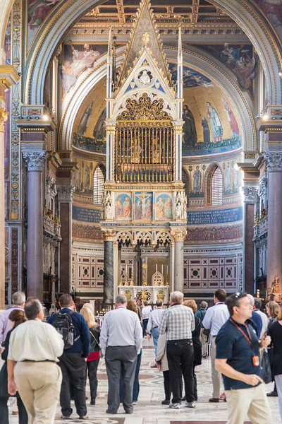 Rome - Archbasilica of St. John Lateran, the nave and altar