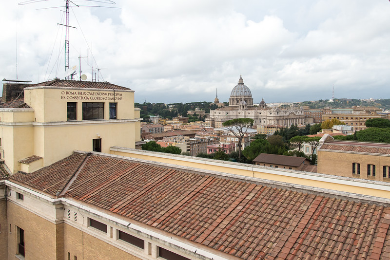 Rome - Pontifical North American College, rooftop view