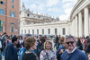 Rome - Street scene near St. Peter's Square after Sunday Mass: Dallas pilgrims