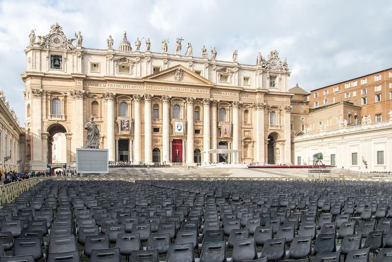 Rome - St. Peter's Square: seating for Sunday Mass