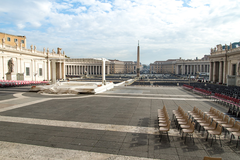 Vatican City - St. Peter's Square: altar for Sunday's Mass