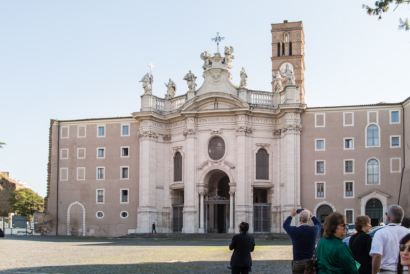 Rome - Basilica of the Holy Cross in Jerusalem, front entrance