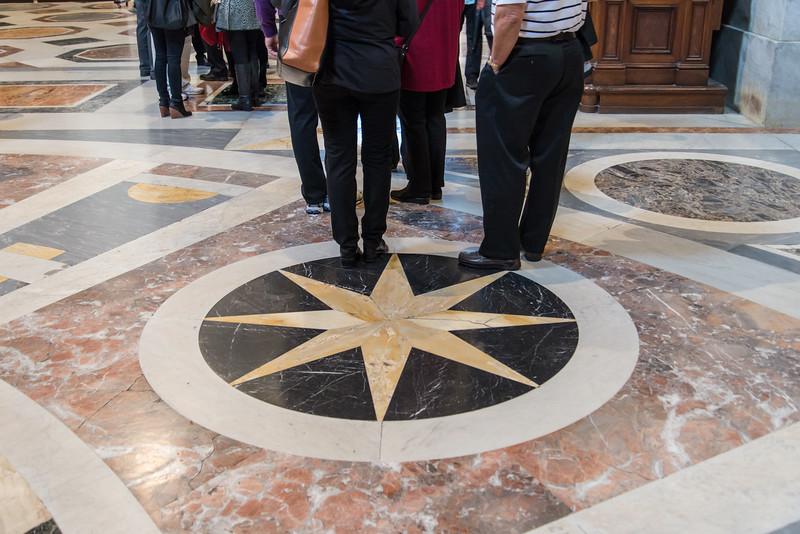 Vatican City - St. Peter's Basilica, floor art