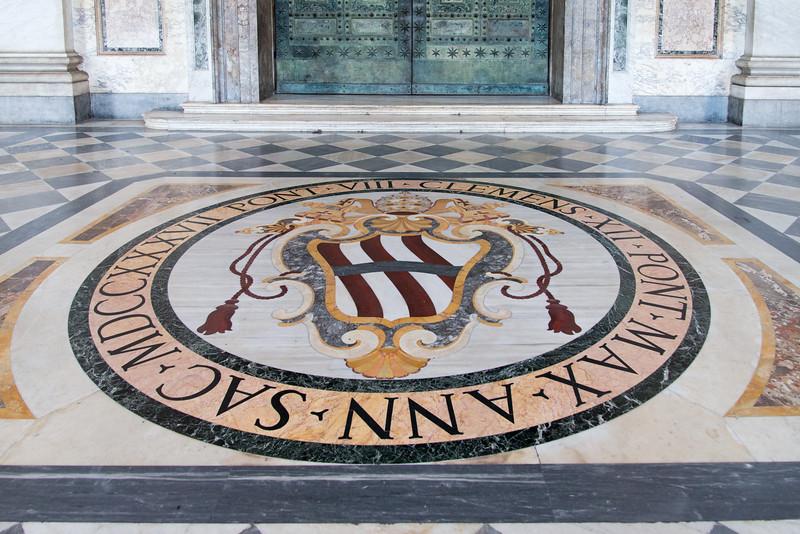 Rome - Archbasilica of St. John Lateran, interior scene