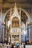 Rome - Archbasilica of St. John Lateran, the altar and apse