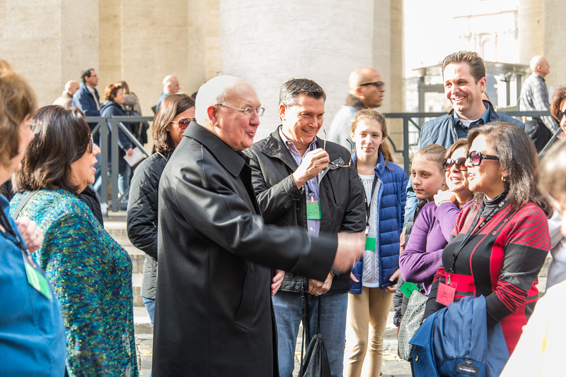 Rome - St. Peter's Square, chance encounter with Cardinal-elect Farrell