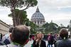 Vatican City - Vatican Museum, garden behind St. Peter's Basilica