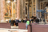 Vatican City - St. Peter's Basilica, one of several ongoing Masses