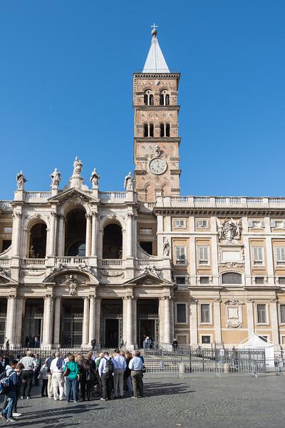 Rome - Basilica of St. Mary Major, main entrance
