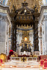 Vatican City - St. Peter's Basilica, the papal altar