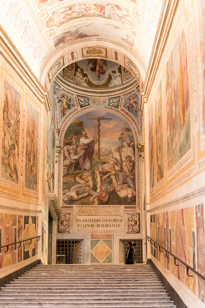Rome - Scala Sancta visitor stairs