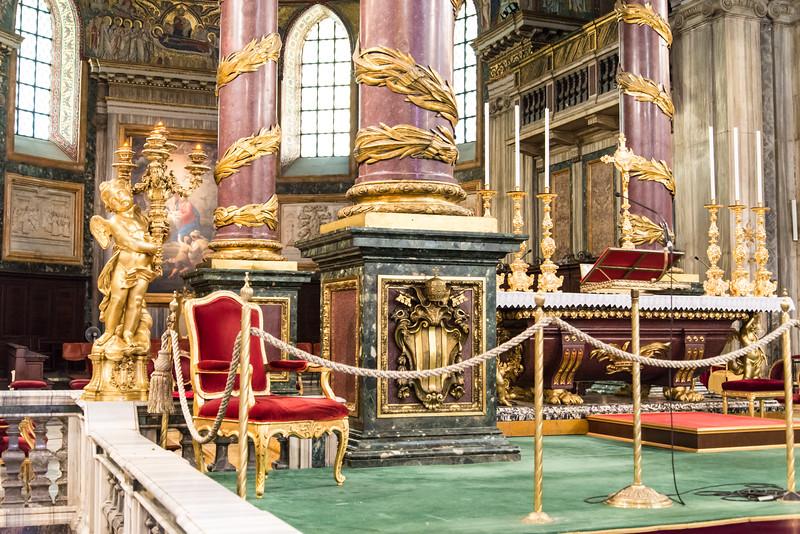 Rome - Basilica of St. Mary Major, the central altar
