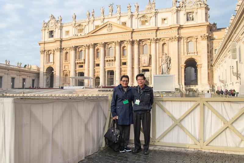 Vatican City - Juanita and Father Joseph at St. Peter's Basilica