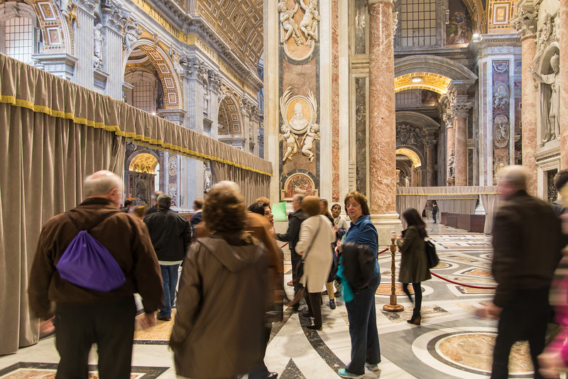 Vatican City - St. Peter's Basilica after entering through the Holy Door