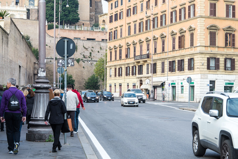 Rome - walking to the Vatican Museum
