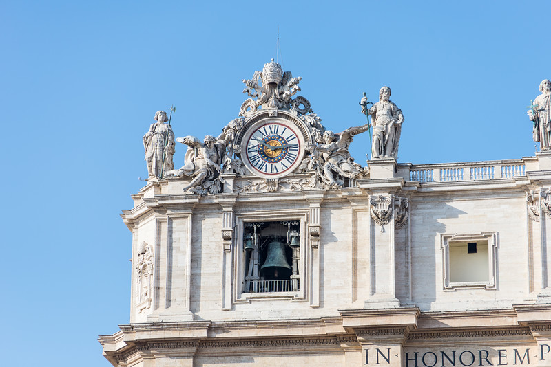 Rome - St. Peter's Square, Basilica detail