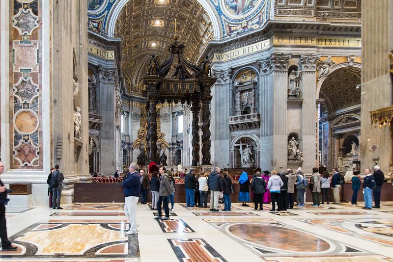 Vatican City - St. Peter's Basilica, papal altar