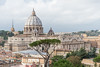 Rome - Pontifical North American College, rooftop view: St. Peter's Basilica