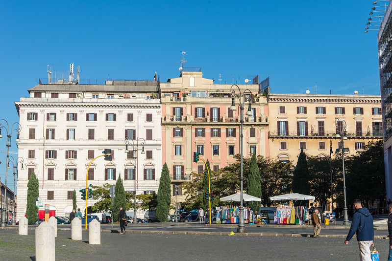 Rome - Archbasilica of St. John Lateran, nearby scene