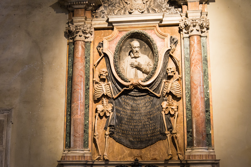 Rome - Basilica of St. Peter in Chains, tomb of Mariano Petro Vecchiarelli