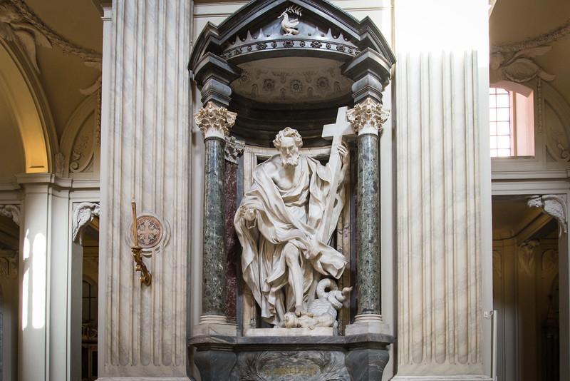 Rome - Archbasilica of St. John Lateran, interior scene: St. Philip statue