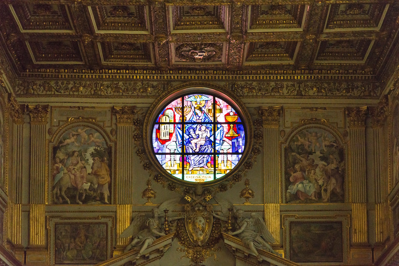 Rome - Basilica of St. Mary Major, interior scene