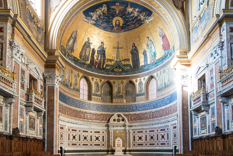 Rome - Archbasilica of St. John Lateran, interior the apse mosaics