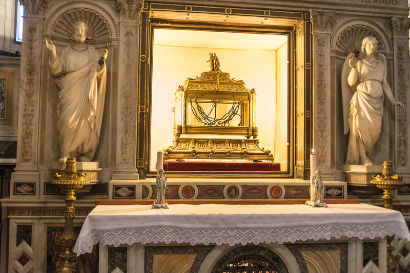 Rome - Basilica of St. Peter in Chains, reliquary containing the chains of St Peter