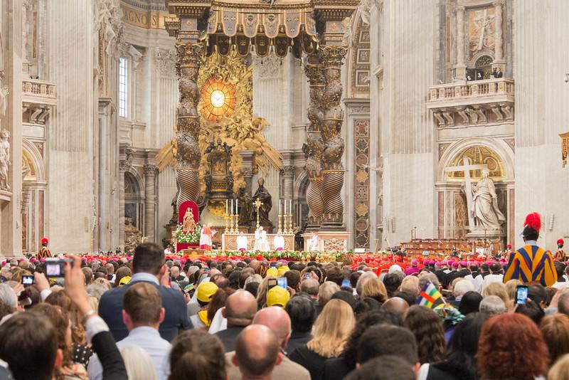 Vatican City - St. Peter's Basilica, Consistory begins