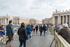 Rome - St. Peter's Square, leaving the basilica