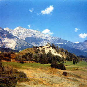 September 24th-27th, 1970 / Oktoberfest Trip:  Our train was still rolling toward Munich. We were now approaching the Austrian Alps.