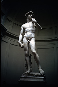 """October 30th to November 1st, 1970 / Florence trip: Michelangelo's """"David"""" in the Galleria dell'Accademia."""