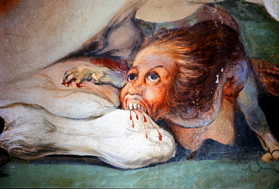 October 30th to November 1st, 1970 / Florence trip: Part of a large mural in the Boboli Garden Museum. You are what you eat?