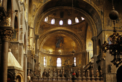 October 9th-11th, 1970 /  Venice trip:  Inside the famous St. Mark's Cathedral.