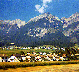 September 24th-27th, 1970 / Oktoberfest Trip:  I captured some of the scenery near Innsbruck, Austria.