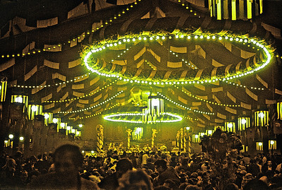 September 24th-27th, 1970 / Oktoberfest Trip:  The Munich fairgrounds. Inside one of the massive beer tents that each had a capacity of 10,000 people. (Photo courtesy of Ken Barnes)