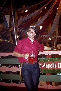 September 24th-27th, 1970 / Oktoberfest Trip:  Ken Barnes apparently enjoying himself inside one of the beer tents. (Photo courtesy of Ken Barnes)