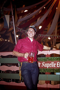 September 24th-27th, 1970 / Oktoberfest Trip:  Ken Barnes apparently enjoying himself inside one of the beer tents. (Photo courtesy of Ken Barnes)