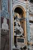 A statue inside Basilica di Santa Maria Maggiore